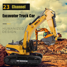 1:14 HUI NA RC Truck 23 Channel alloy remote excavator Car H