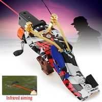 Infrared Slingshot Fishing Hunting Set Pro Fish Shooting Arrow Catapult Outdoor Launcher or Outdoor Fishing Hunting Accurate
