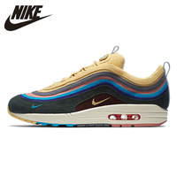 Nike official Air Max 1/97 SW Sean Wotherspoon Summer Man Outdoor Running Shoes Comfortable non slip Sneakers# AJ4219 400