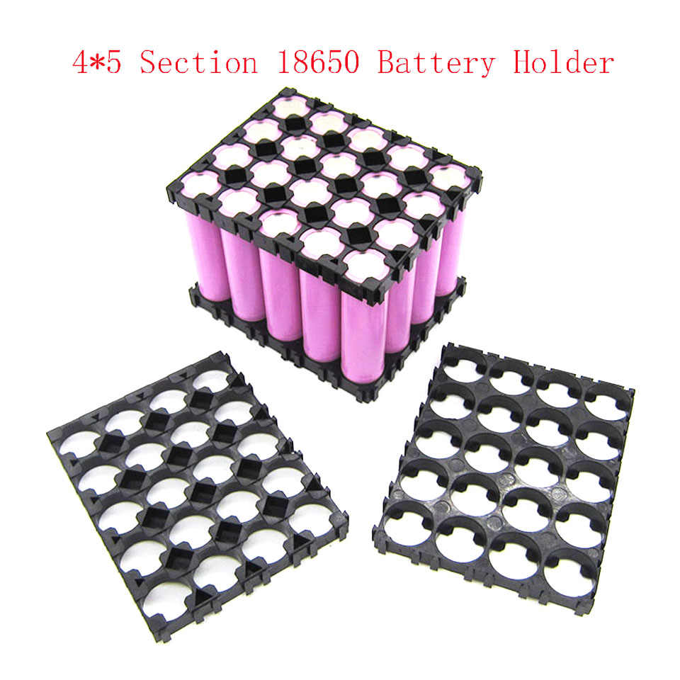 4*5 Cell 18650 Batteries Spacer Radiating Shell Plastic Heat Holder Bracket