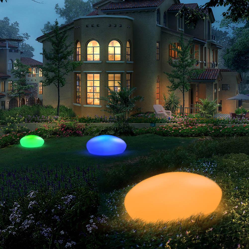 Lampes à lumière solaire nouvelle piscine boule de galets pierre lampe lumière LED éclairage solaire éclairage solaire décoration de jardin