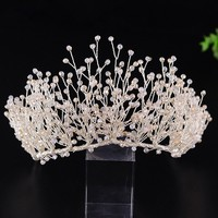 Wedding Crown Queen Bridal Tiaras Bride Crowns With Earrings Headband Wedding Accessories Diadem Marriage Hair Jewelry Ornaments
