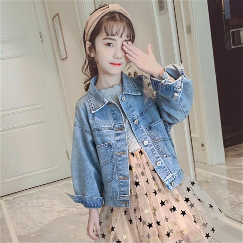 LILIGIRL Vintage Baby Girls Denim Jacket 2019 Children Fashion Solid Color Short Large Pocket Jeans Coats for Kids Tops ClothesLILIGIRL Vintage Baby Girls Denim Jacket 2019 Children Fashion Solid Color Short Large Pocket Jeans Coats for Kids Tops Clothes