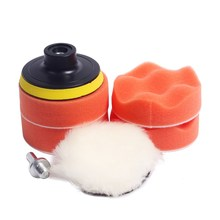 "7pcs 3""/4"" car polishing pad set Polishing Buffer Waxing Buffing Pad Drill Set Kit Car Polishing sponge Wheel Kit polisher"