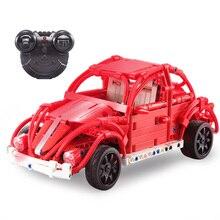 Cada Double E 472pcs 2.4G 5.5KM/H Remote Control Model Car Red RC Open Doors Building Blocks Children Kids Assemble Toy