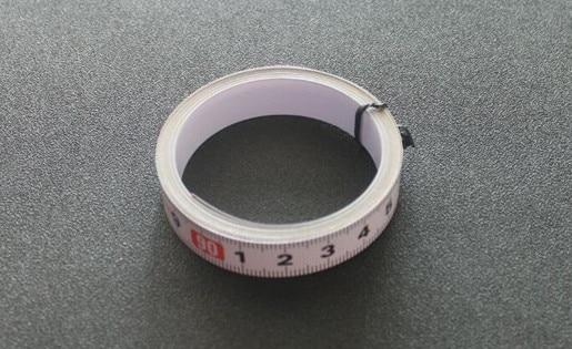Купить с кэшбэком 400mm Standard Aluminium T-track 45mm Width with Self Adhesive Metric Scale