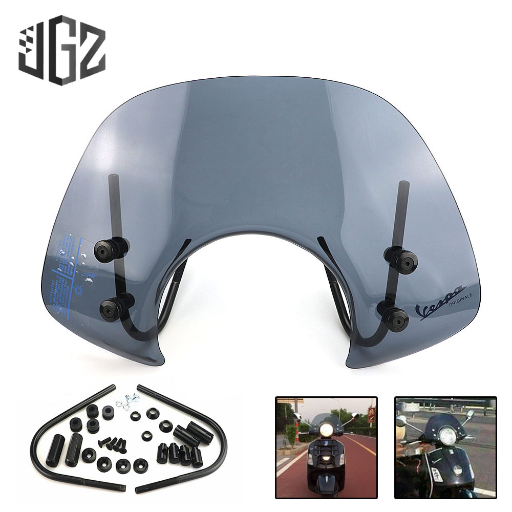 For VESPA GTS 250 Front Acrylic Screen Windshield Motorcycle Smoke Wind Deflector Windscreen Cover gts 300 Scooter Accessories S Лобовое стекло