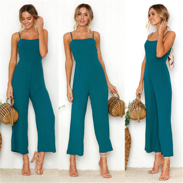 Women Casual Bodysuits Womens Fashion Slim Sleeveless Pants Suspender Trousers Jumpsuit Casual Rompers 5