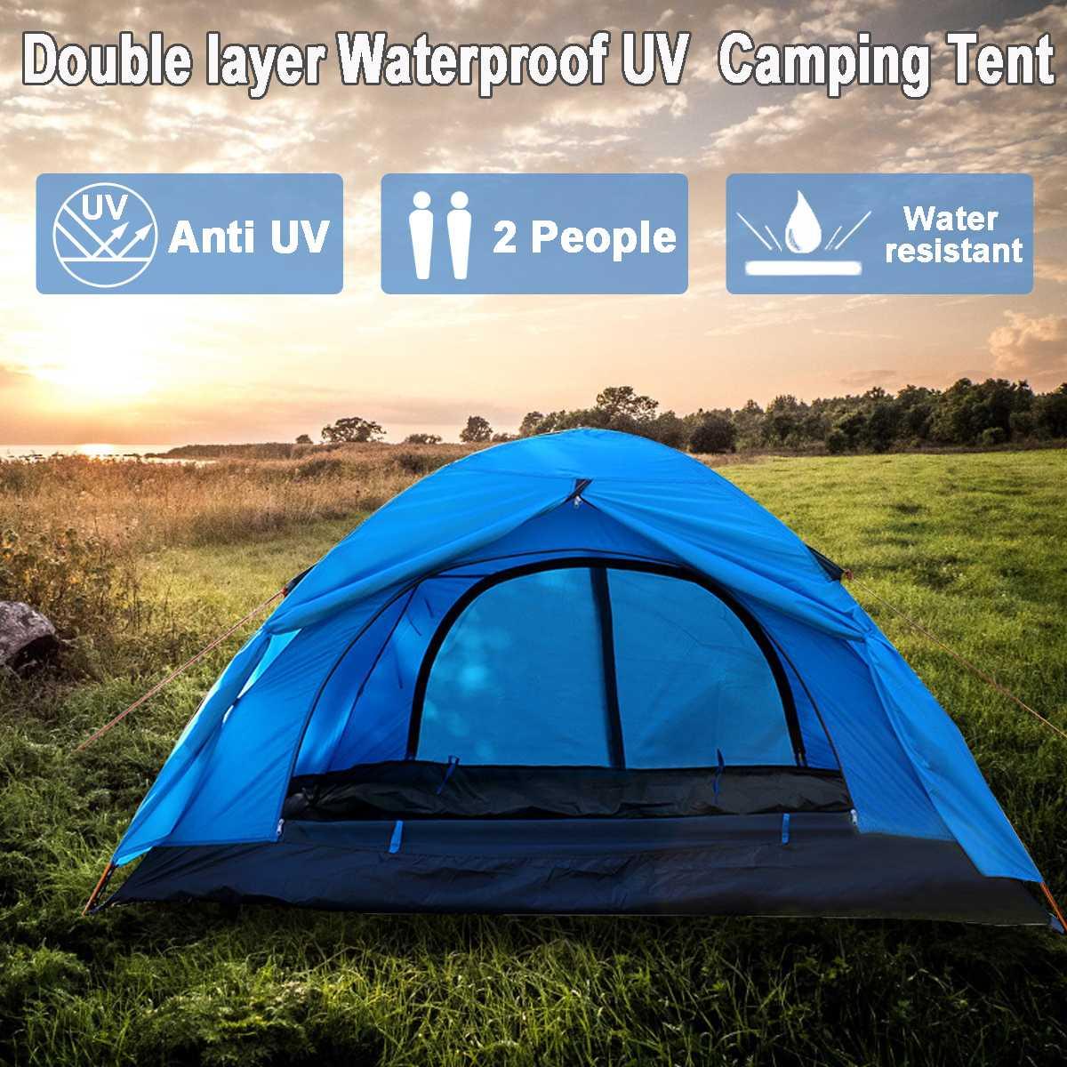 2 personnes couche double Étanche UV Famille Camping En Plein Air Sunshelter Randonnée Aventure Instantanée tente de plage 4 Saisons