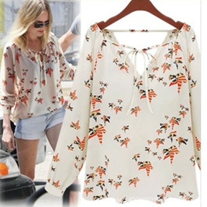 Star Beach   Shirt   Women's V Long Sleeve Chiffon casual Suit womens tops and   blouses   Spring summer camisa 2019 feminina femme