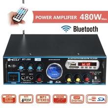 12V/220V 2CH Amplificador Audio HIFI Digital Wireless bluetooth Car Aud