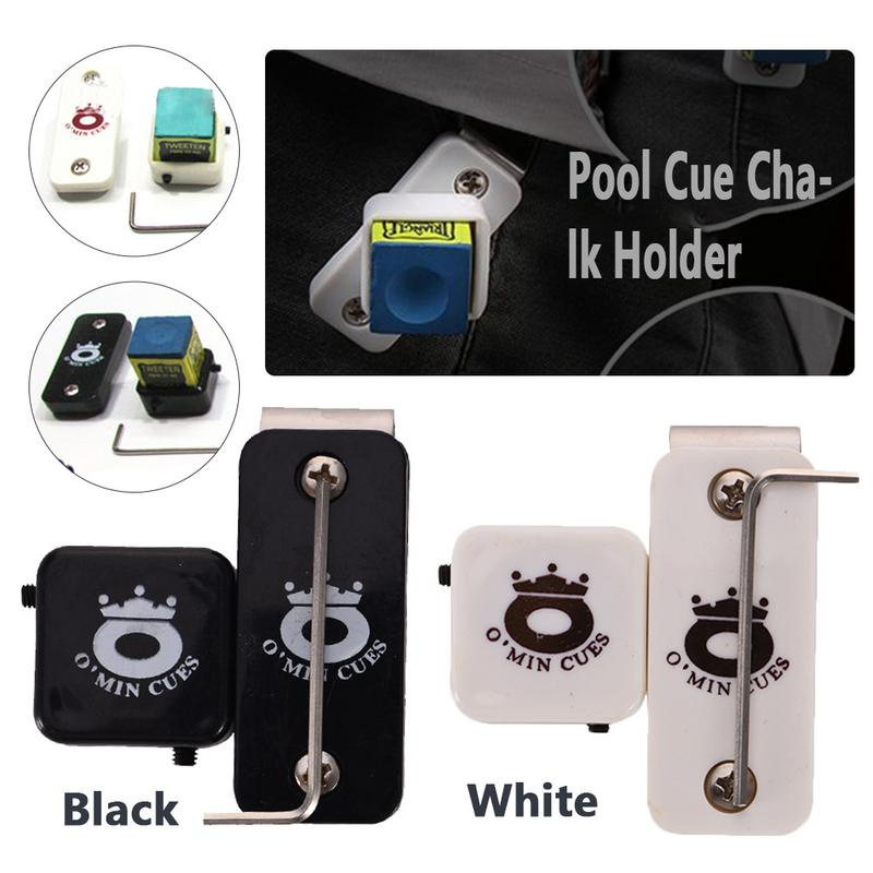 Magnetic Snooker Billiards Pool Table Plastic Cue Chalk Holder W/ With Belt Clip Snooker Chalk Cases With Strong Power Magnet