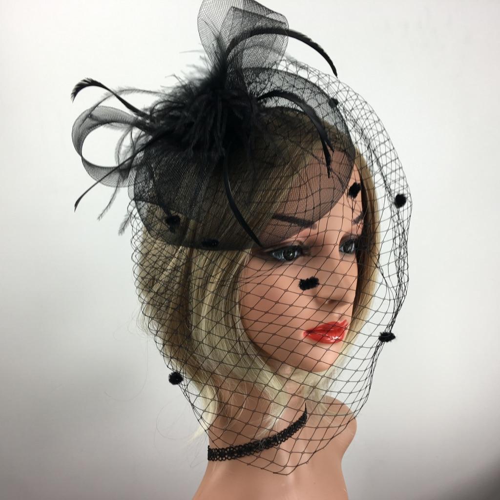 Vintage Flower Fascinator Feather Hat 1920s Gatsby Bride Headband Party Headwear