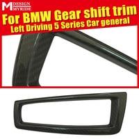 For BMW E39 E60 F10 F18 G38 G30 F07 Gear Shift Surround Cover interior Trim 520i 528i 530 Universal Carbon Fiber Left Hand Drive