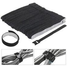 b44c3465e973 30 Pcs Magic Sticker Loop Cable Hook Loop Reusable Cable Ties Nylon Stick  Straps Cable Management