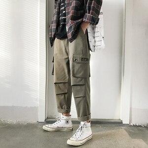 Image 1 - Мужские шаровары с принтом, модные эластичные хлопковые повседневные брюки в стиле хип хоп, спортивные штаны для бега, большие размеры, M 5XL, 2019