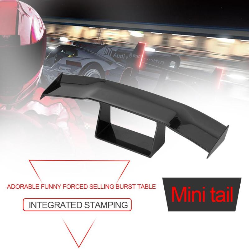 Car Spoiler Wing,Universal Car Mini Spoiler Wing with Small Model ABS Style Auto Car Tail Decoration Spoiler Wing Accessories For All Cars Black