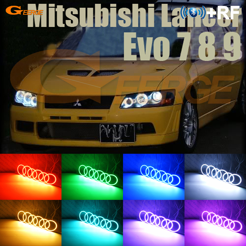 For Mitsubishi Lancer Evo 7 8 9 2002-2007 Excellent RF Bluetooth Controller Multi-Color Ultra bright RGB LED Angel Eyes kitFor Mitsubishi Lancer Evo 7 8 9 2002-2007 Excellent RF Bluetooth Controller Multi-Color Ultra bright RGB LED Angel Eyes kit