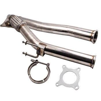 3 นิ้วสแตนเลส exhaust downpipe de แมวสำหรับหรือ Audi A3/S3 2.0 T (2004-2011) สำหรับ Skoda Octavia 2.0 T