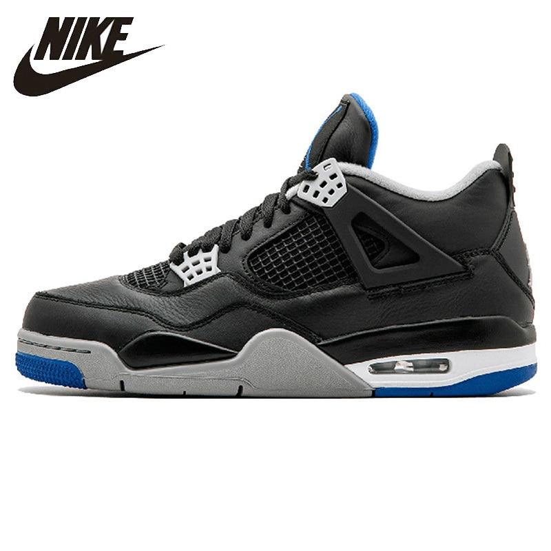 NIKE AIR JORDAN 4 PURE MONEY Men's Basketball Shoes Original AJ 4 Outdoor Shock-absorbing Non-slip Sneakers #308497-006