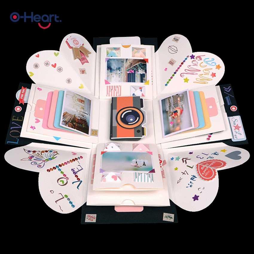 Creative DIY Explosion Box Gift Love For Anniversary Scrapbook Photo Album Birthday Wedding