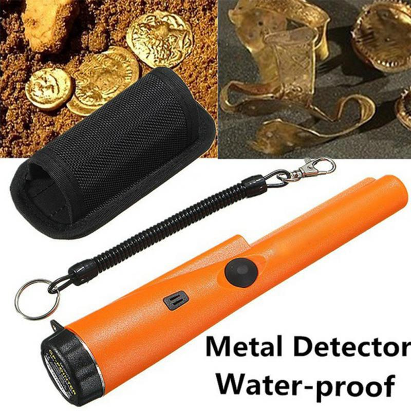 Pinpointing Probe Metal Detector Waterproof  Treasure Hunting Tool Buzzer Vibration with Sound LED Portable Pin Pointer