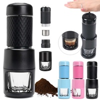 Portable Handheld Coffee Maker Italian Concentrate Coffee Machine Manual Capsule/Coffee Powder Home Outdoor Travel Coffee Pot
