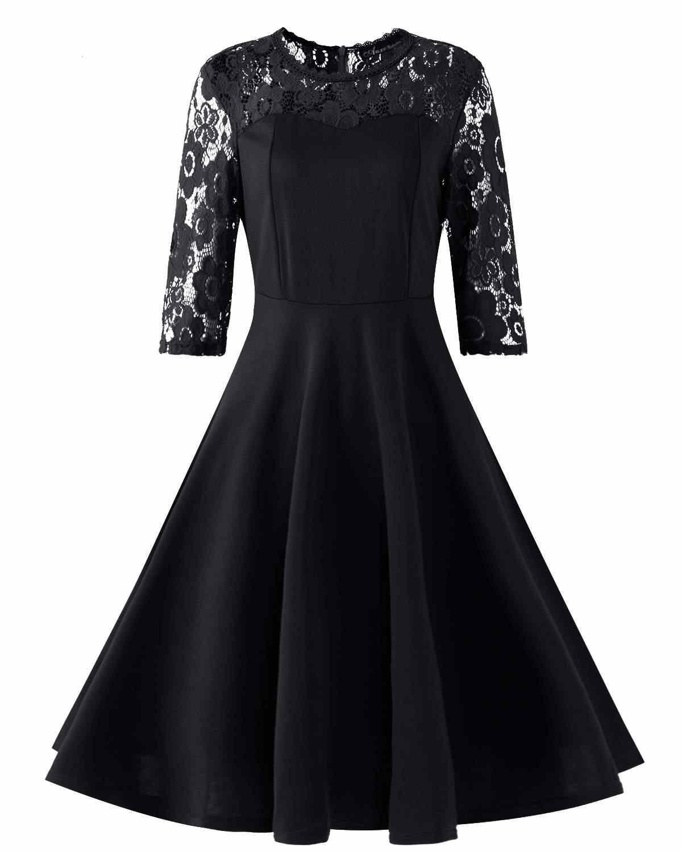 1f0e8f9b004f1 Women Elegant Party Dresses Summer 2019 Casual Slim Sexy Patchwork Lace  A-Line Knee-Length Bodycon Dress Vestidos Plus Size 2XL