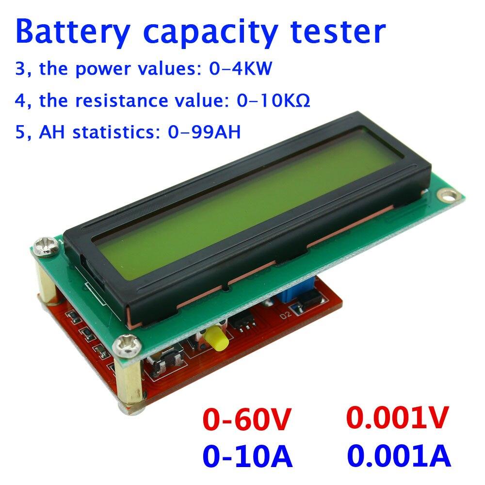 Tester Di Tensione Amperometro/misuratore Di Potenza/lcd/coulomb Ah Meter/digitale Di Resistenza Tempo Volt Capacità Della Batteria Tester