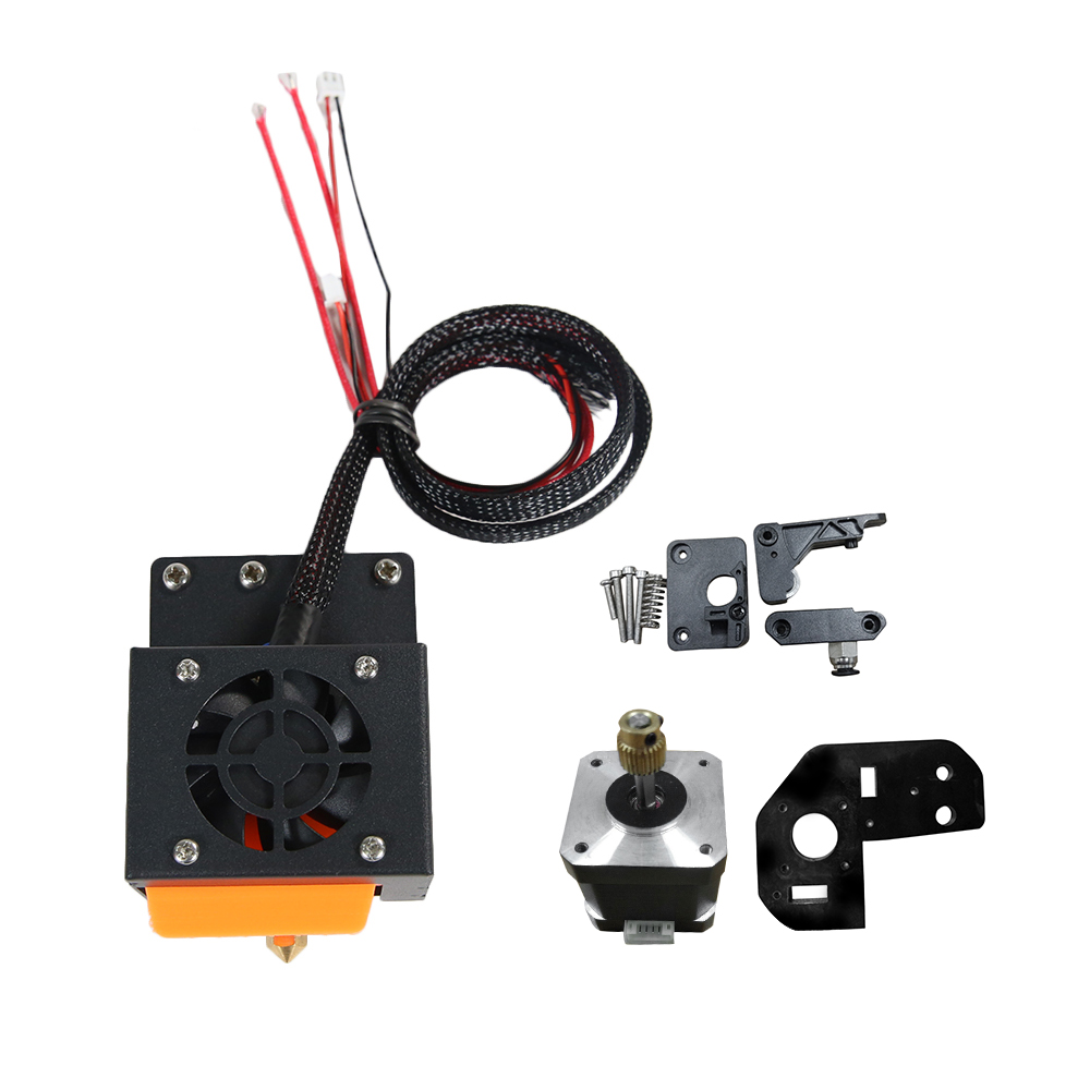 Dual Heads 0.4mm Extruder Hotend Kit For 3D Printer 2x Color-Filament 1.75mm