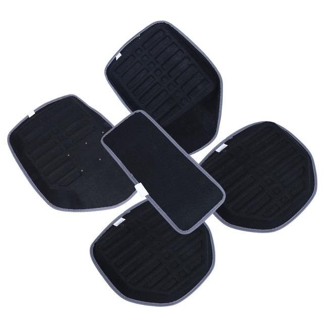 5 piezas de coche alfombras de piso antideslizante de cuero de la PU cubierta impermeable y cojín Universal Auto alfombra piso alfombra del coche estilo de decoración
