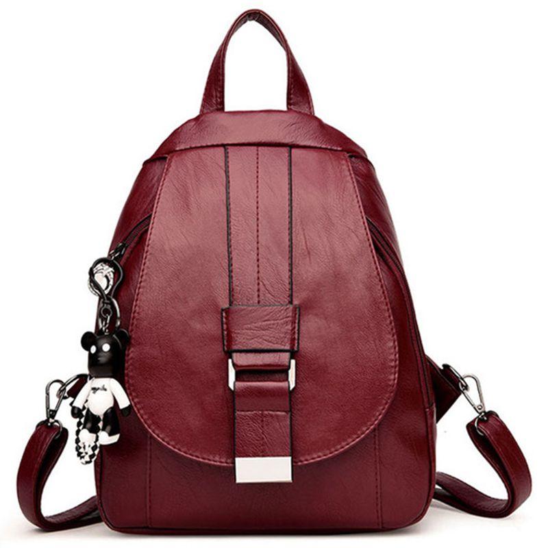 Women Vintage Backpacks For School Small Shoulder Bag Preppy Style Female Backpack For Teenage Girls Sac a Dos Softback New