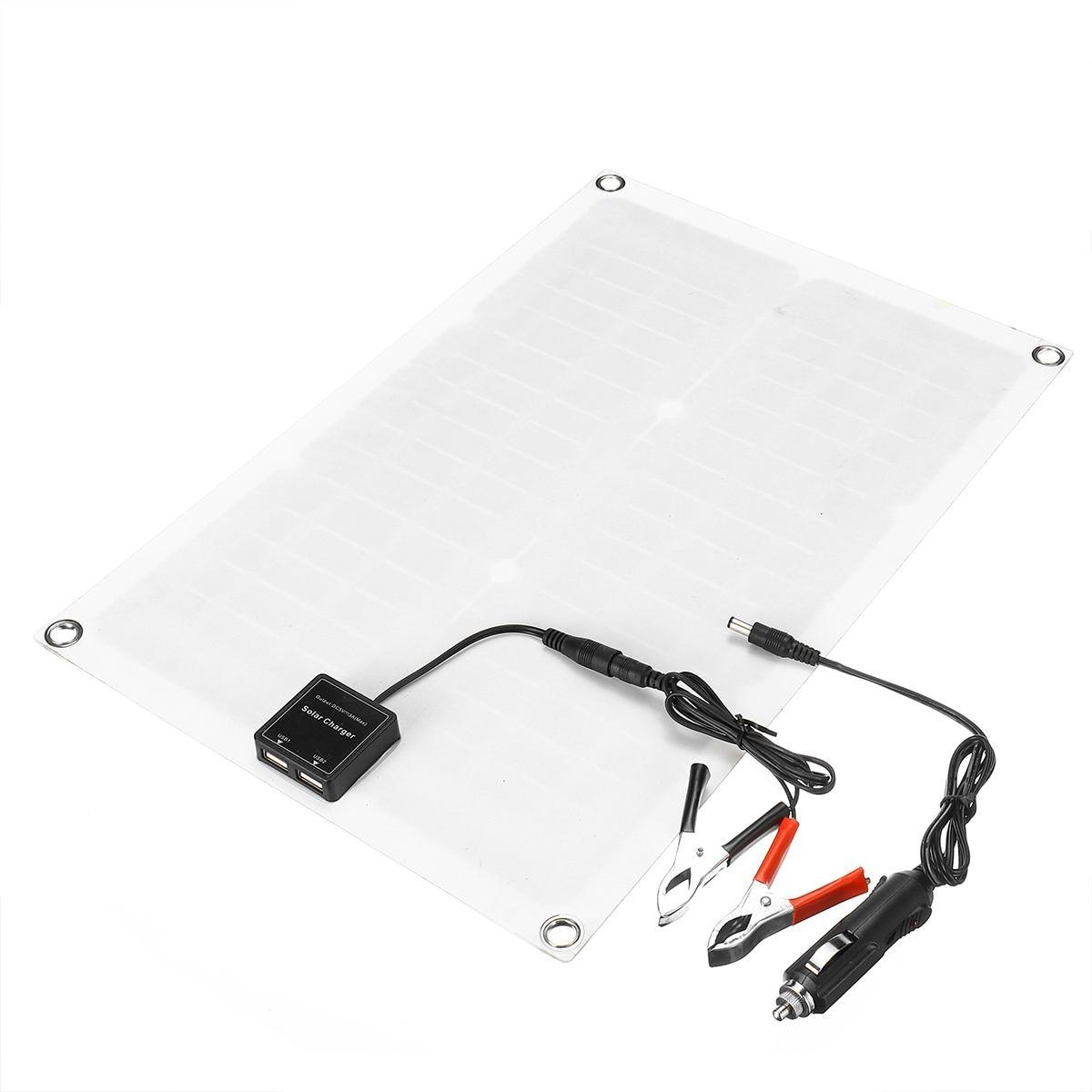 50 W panneau solaire cellules solaires Poly panneau solaire double sortie USB 10/20/30/40/50A contrôleur pour voiture Yacht 12 V batterie bateau chargeur - 6