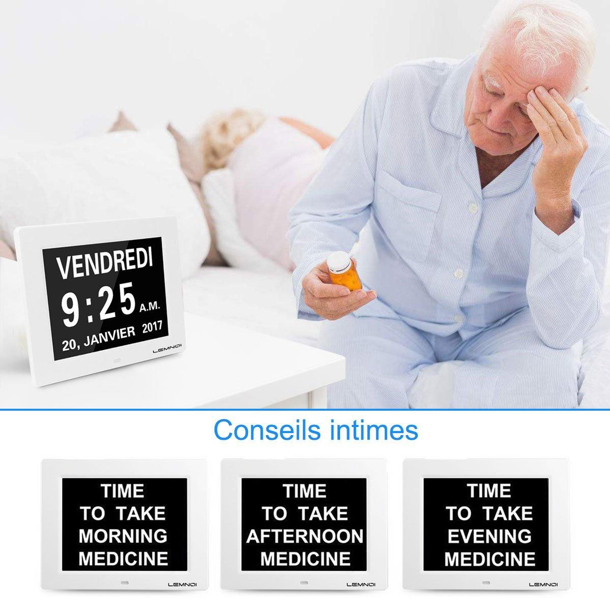 Dag Klok Digitale Kalender met Extra Grote Non Afgekort Datum Tijd Display voor Senioren Geheugenverlies Mensen Dementie-in Wekkers van Huis & Tuin op  Groep 2