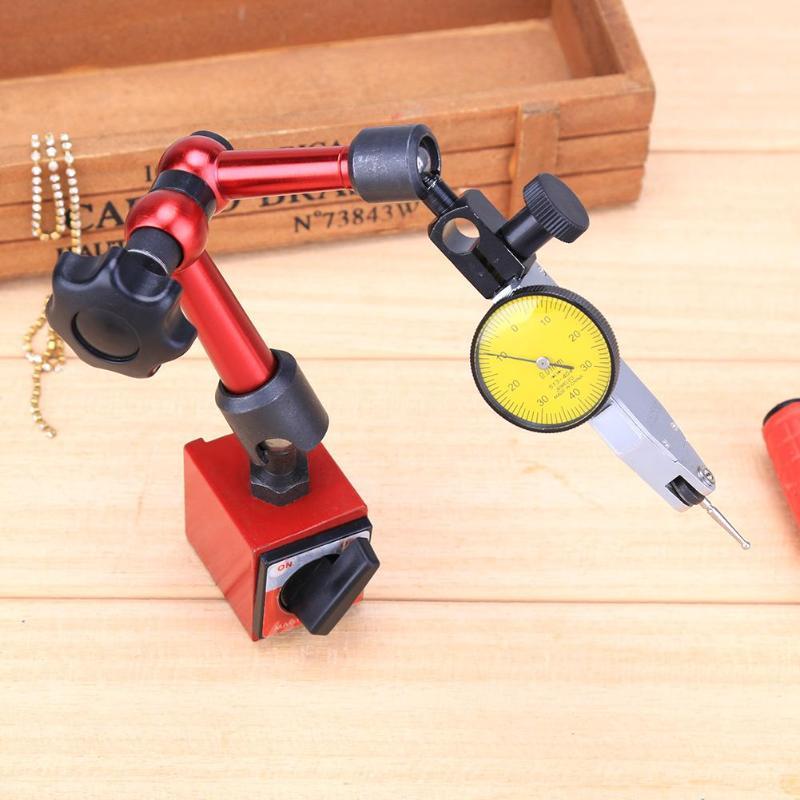 Universal Flexible Dial Indicator High Precision Lever Indicator Dial Test 0.01mm Waterproof Dial Indicator Magnetic Metal Base