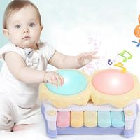 Music Kids Lighting Drum Toy Electronic included not Drum Music Toys Battery Pat New Children Toy Keyboard Light Hand