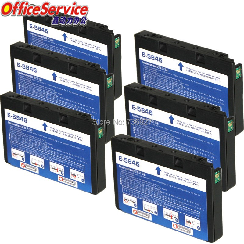 6X NEW compatible Ink Cartridge T5846 suit For Epson PictureMate 200 240 260 280 290 PM240