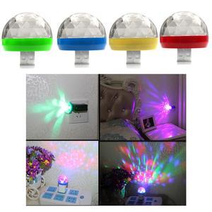LED Car USB Sound Control Lamp