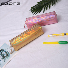 EZONE Laser Color Pencil Bag New Fashion Portable Large Capacity Cosmetics Makeup Metallic Stationery
