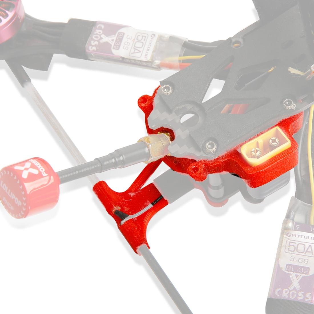 JMT 3D impreso TPU 45 grados cola antena montaje protección asiento para iFlight XL/HL ih3 iX5 V3 marco DIY FPV Dron de carreras