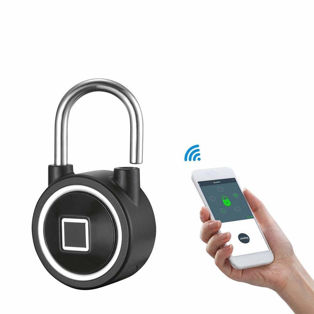Serrure biométrique intelligente de sécurité de cadenas d'empreinte digitale cadenas sans clé imperméable avec le contrôle de Bluetooth pour la porte de maison/valise etc.