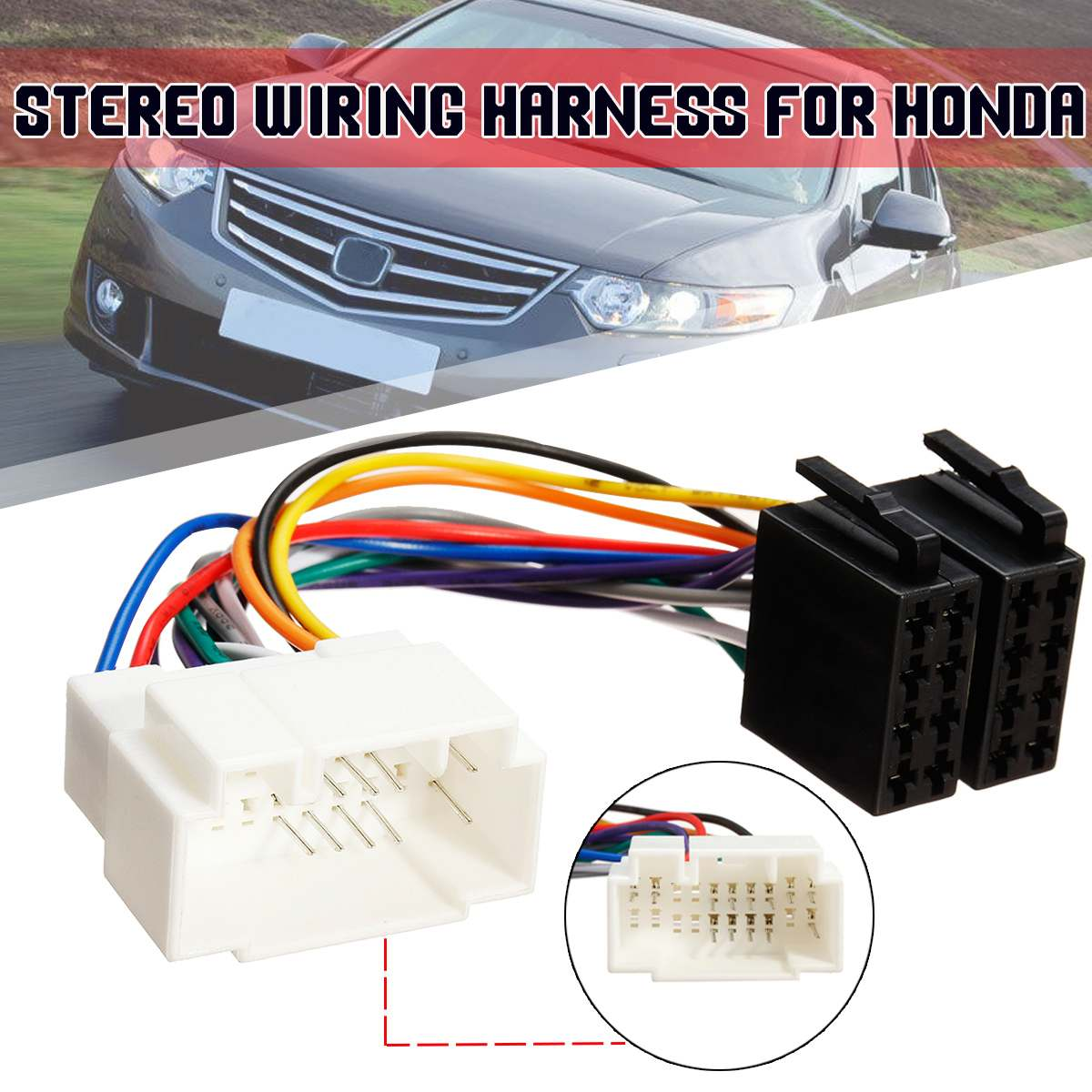 Iso Radio Wire Cable Wiring Harness Car Stereo Adapter Connector