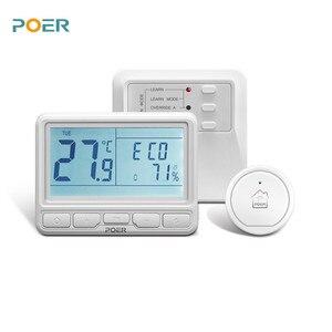 Image 1 - Termoregulador controlador de temperatura, termostato inteligente, programável, sem fio, wifi, para caldeira, aquecimento de água