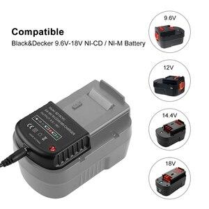 Image 4 - 9,6 V 18 V Multi Volt Batterie Ladegerät Für Black & Decker Ni Cd Ni Mh Batterie Hpb18 hpb18 Ope Hpb12 Hpb14 Fsb14 Fsb18 Fs120Bx Uns Pl