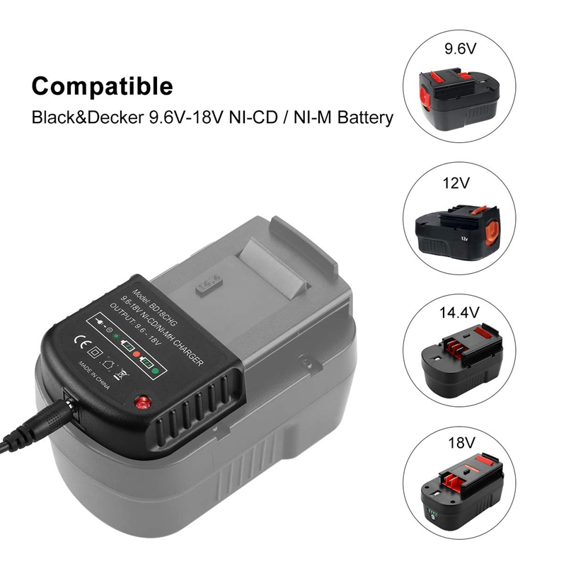 Image 4 - 9.6V 18V Multi Volt Battery Charger For Black&Decker Ni Cd Ni Mh Battery Hpb18 Hpb18 Ope Hpb12 Hpb14 Fsb14 Fsb18 Fs120Bx Us Pl-in Chargers from Consumer Electronics