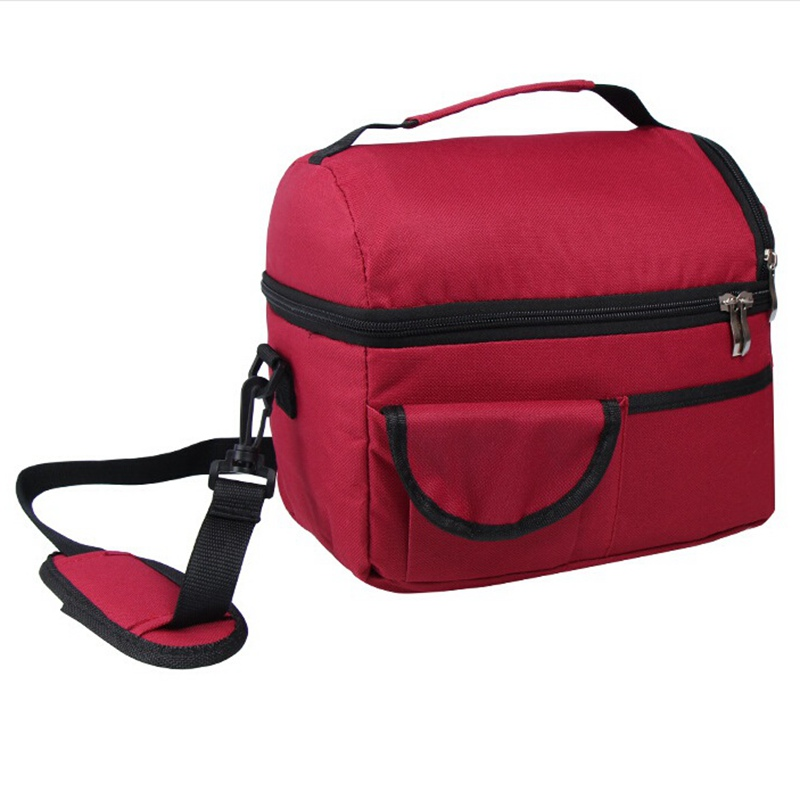 Insulated Lunch Box Tote Bag Travel Men Women Adult Food Thermal Cooler Hot Cold