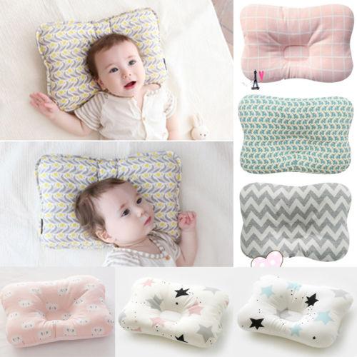 Newborn Infant Anti Roll Baby Prevent Flat Head Positioner Pillow Newborn