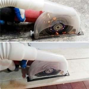 Image 2 - Meuleuse dangle coupe couvercle anti poussière Transparent pour meuleuse 4/ 5