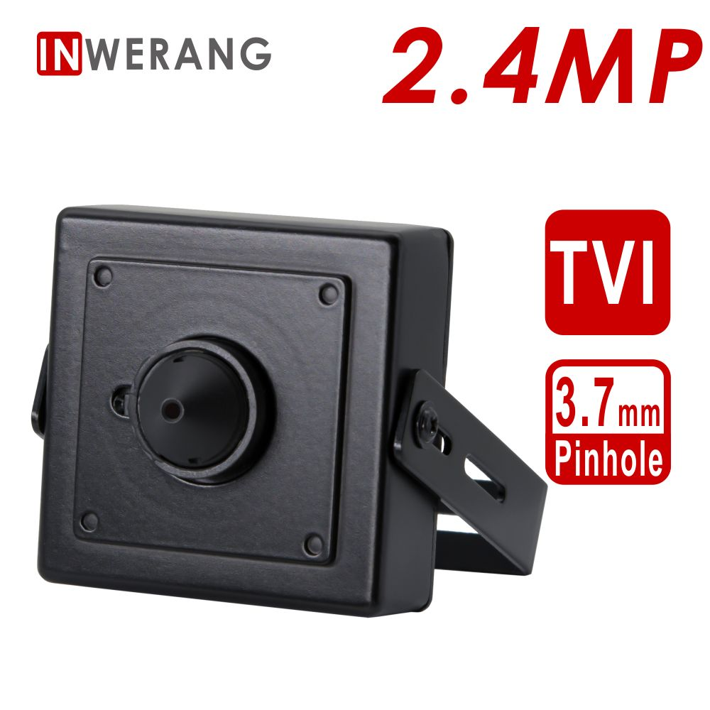 Inwerang 2.4MP TVI CCTV Security mini Type Camera, HD 1080P Mini 3.7mm Lens Indoor Metal Security CameraInwerang 2.4MP TVI CCTV Security mini Type Camera, HD 1080P Mini 3.7mm Lens Indoor Metal Security Camera