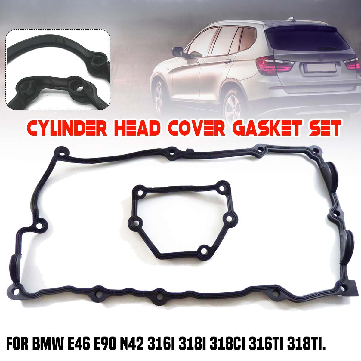 Engine Valve Cover Gasket Set with Tube Seals fits Bmw 1-3-5-x3-x5-z4-Series